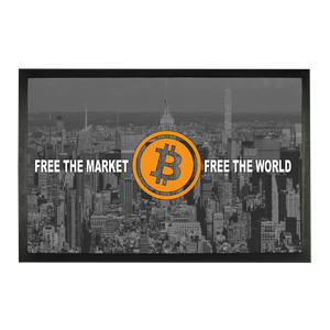 👕 Bitcoin Free the market Sublimation Doormat - Best Bitcoin Shirt Shop für Deutschland, Österreich, Schweiz. Top Qualität, 3-5 Tage geliefert und Krypto, Paypal Zahlung