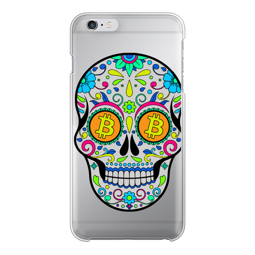 👕 Bitcoin Sugar Skull Back Printed Transparent Hard Phone Case - Best Bitcoin Shirt Shop für Deutschland, Österreich, Schweiz. Top Qualität, 3-5 Tage geliefert und Krypto, Paypal Zahlung