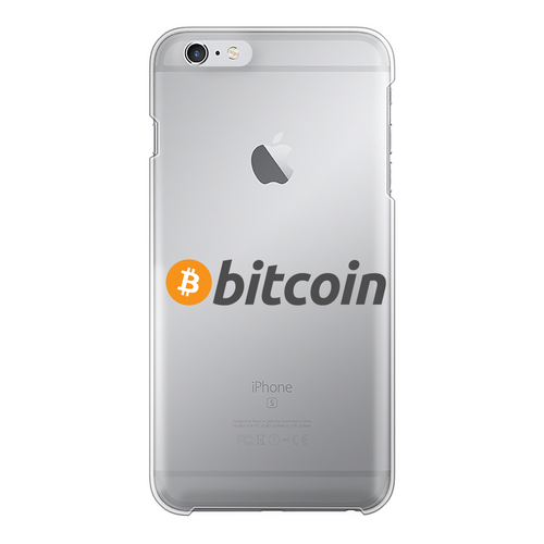 👕 Bitcoin Text Logo Back Printed Transparent Hard Phone Case - Best Bitcoin Shirt Shop für Deutschland, Österreich, Schweiz. Top Qualität, 3-5 Tage geliefert und Krypto, Paypal Zahlung