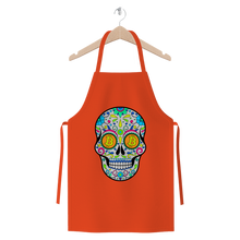 Laden Sie das Bild in den Galerie-Viewer, 👕 Bitcoin Sugar Skull Premium Jersey Apron - Best Bitcoin Shirt Shop für Deutschland, Österreich, Schweiz. Top Qualität, 3-5 Tage geliefert und Krypto, Paypal Zahlung