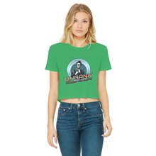 قم بتحميل الصورة في عارض المعرض ، 👕 Unbank yourself Classic Women's Cropped Raw Edge T-Shirt - Best Bitcoin Shirt Shop für Deutschland, Österreich, Schweiz. Top Qualität, 3-5 Tage geliefert und Krypto, Paypal Zahlung