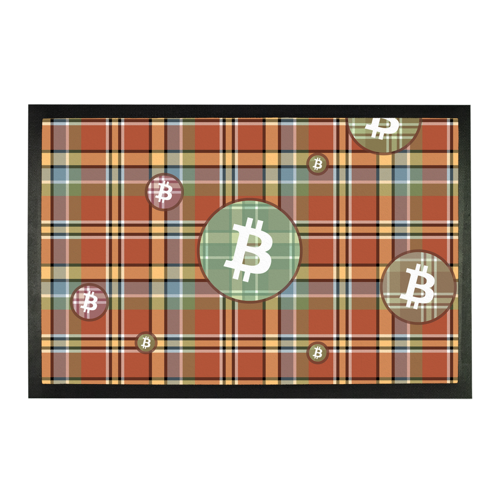 👕 Bitcoin kariertes braunes Muster Sublimation Doormat - Best Bitcoin Shirt Shop für Deutschland, Österreich, Schweiz. Top Qualität, 3-5 Tage geliefert und Krypto, Paypal Zahlung