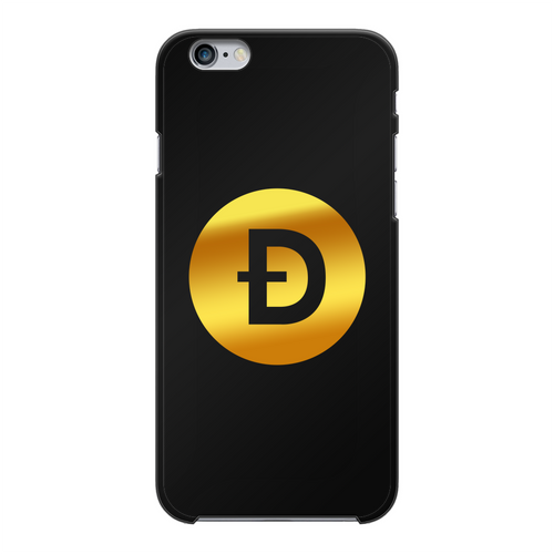 👕 Dogecoin Logo Crypto Merch Back Printed Black Hard Phone Case - Best Bitcoin Shirt Shop für Deutschland, Österreich, Schweiz. Top Qualität, 3-5 Tage geliefert und Krypto, Paypal Zahlung