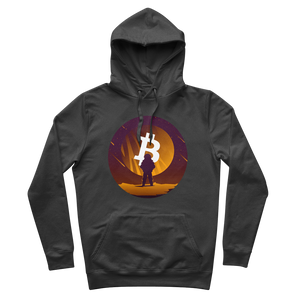 👕 Bitcoin to the moon Premium Adult Hoodie - Best Bitcoin Shirt Shop für Deutschland, Österreich, Schweiz. Top Qualität, 3-5 Tage geliefert und Krypto, Paypal Zahlung