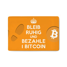 Laden Sie das Bild in den Galerie-Viewer, Bleib ruhig Bitcoin Fussmatte - Bitcoin Shirt Shop