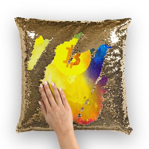 👕 Bitcoin Colourful Sequin Cushion Cover - Best Bitcoin Shirt Shop für Deutschland, Österreich, Schweiz. Top Qualität, 3-5 Tage geliefert und Krypto, Paypal Zahlung