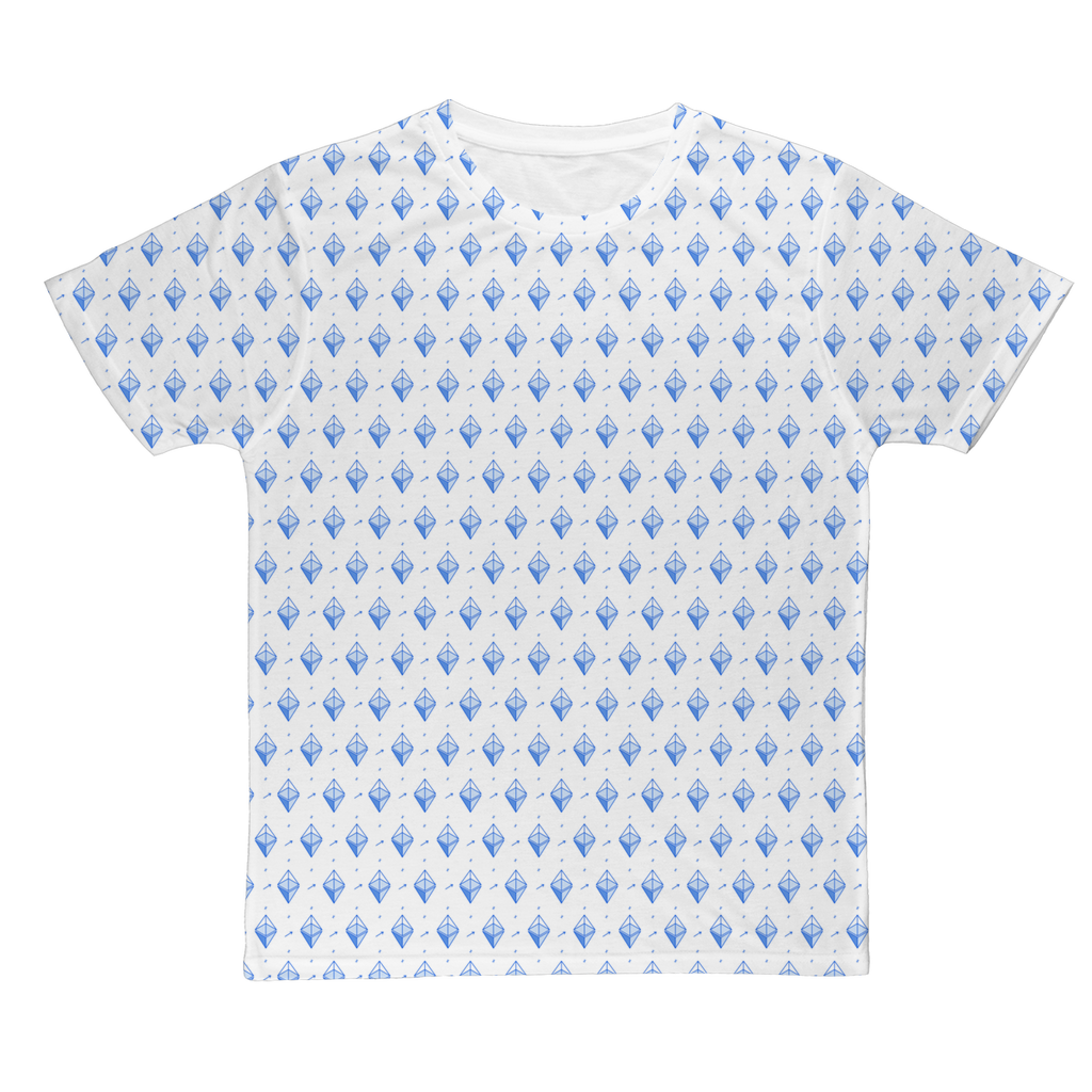 👕 Blaue Ethereum Symbole Classic Sublimation Adult T-Shirt - Best Bitcoin Shirt Shop für Deutschland, Österreich, Schweiz. Top Qualität, 3-5 Tage geliefert und Krypto, Paypal Zahlung