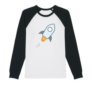 👕 stellar XLM Logo Crypto Merch Organic Raglan Long Sleeve Shirt - Best Bitcoin Shirt Shop für Deutschland, Österreich, Schweiz. Top Qualität, 3-5 Tage geliefert und Krypto, Paypal Zahlung