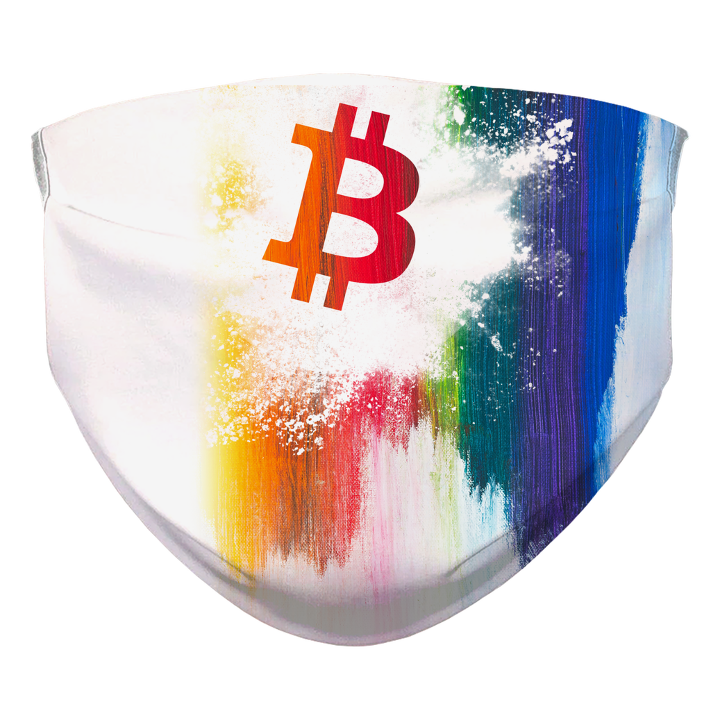 👕 Bitcoin Maske Splash painted Bedruckte-Gesichtsmaske - Best Bitcoin Shirt Shop für Deutschland, Österreich, Schweiz. Top Qualität, 3-5 Tage geliefert und Krypto, Paypal Zahlung