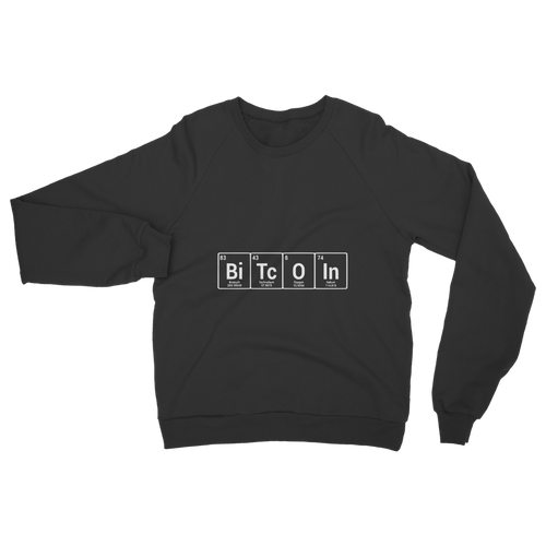 👕 Bitcoin Periodic Table Classic Adult Sweatshirt - Best Bitcoin Shirt Shop für Deutschland, Österreich, Schweiz. Top Qualität, 3-5 Tage geliefert und Krypto, Paypal Zahlung
