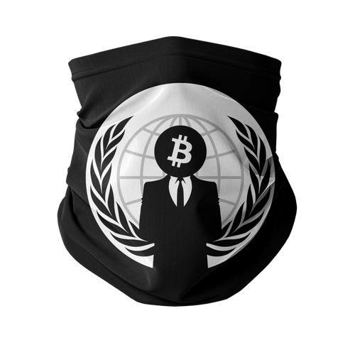 👕 Bitcoin Anonymous Sublimation Neck Gaiter - Best Bitcoin Shirt Shop für Deutschland, Österreich, Schweiz. Top Qualität, 3-5 Tage geliefert und Krypto, Paypal Zahlung
