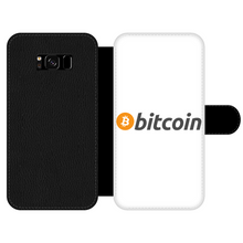 Laden Sie das Bild in den Galerie-Viewer, 👕 Bitcoin Text Logo Front Printed Wallet Cases - Best Bitcoin Shirt Shop für Deutschland, Österreich, Schweiz. Top Qualität, 3-5 Tage geliefert und Krypto, Paypal Zahlung