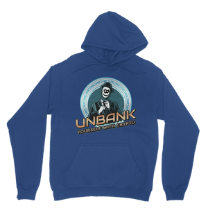 👕 Unbank yourself Classic Adult Hoodie - Best Bitcoin Shirt Shop für Deutschland, Österreich, Schweiz. Top Qualität, 3-5 Tage geliefert und Krypto, Paypal Zahlung