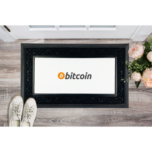 👕 Bitcoin Text Logo Sublimation Heavy Duty Door Mat - Best Bitcoin Shirt Shop für Deutschland, Österreich, Schweiz. Top Qualität, 3-5 Tage geliefert und Krypto, Paypal Zahlung