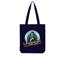 Load the picture into the gallery viewer, 👕 Unbank yourself Organic Tote Bag - Best Bitcoin Shirt Shop für Deutschland, Österreich, Schweiz. Top Qualität, 3-5 Tage geliefert und Krypto, Paypal Zahlung