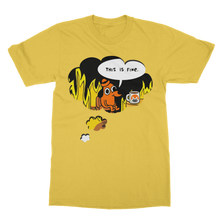 Laden Sie das Bild in den Galerie-Viewer, 👕 This is fine Monero Classic Adult T-Shirt - Best Bitcoin Shirt Shop für Deutschland, Österreich, Schweiz. Top Qualität, 3-5 Tage geliefert und Krypto, Paypal Zahlung