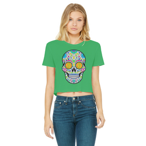 👕 Bitcoin Sugar Skull Classic Women's Cropped Raw Edge T-Shirt - Best Bitcoin Shirt Shop für Deutschland, Österreich, Schweiz. Top Qualität, 3-5 Tage geliefert und Krypto, Paypal Zahlung