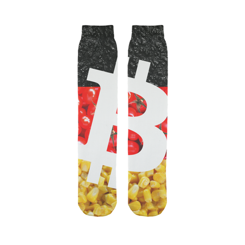 👕 Bitcoin Tomaten, Asphalt und Mais Sublimation Tube Sock - Best Bitcoin Shirt Shop für Deutschland, Österreich, Schweiz. Top Qualität, 3-5 Tage geliefert und Krypto, Paypal Zahlung