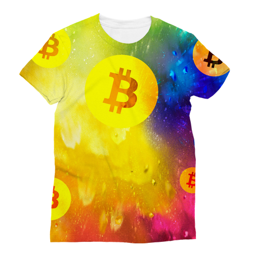 👕 TShirt Bitcoin Colourful Classic Sublimation Women's T-Shirt - Best Bitcoin Shirt Shop für Deutschland, Österreich, Schweiz. Top Qualität, 3-5 Tage geliefert und Krypto, Paypal Zahlung