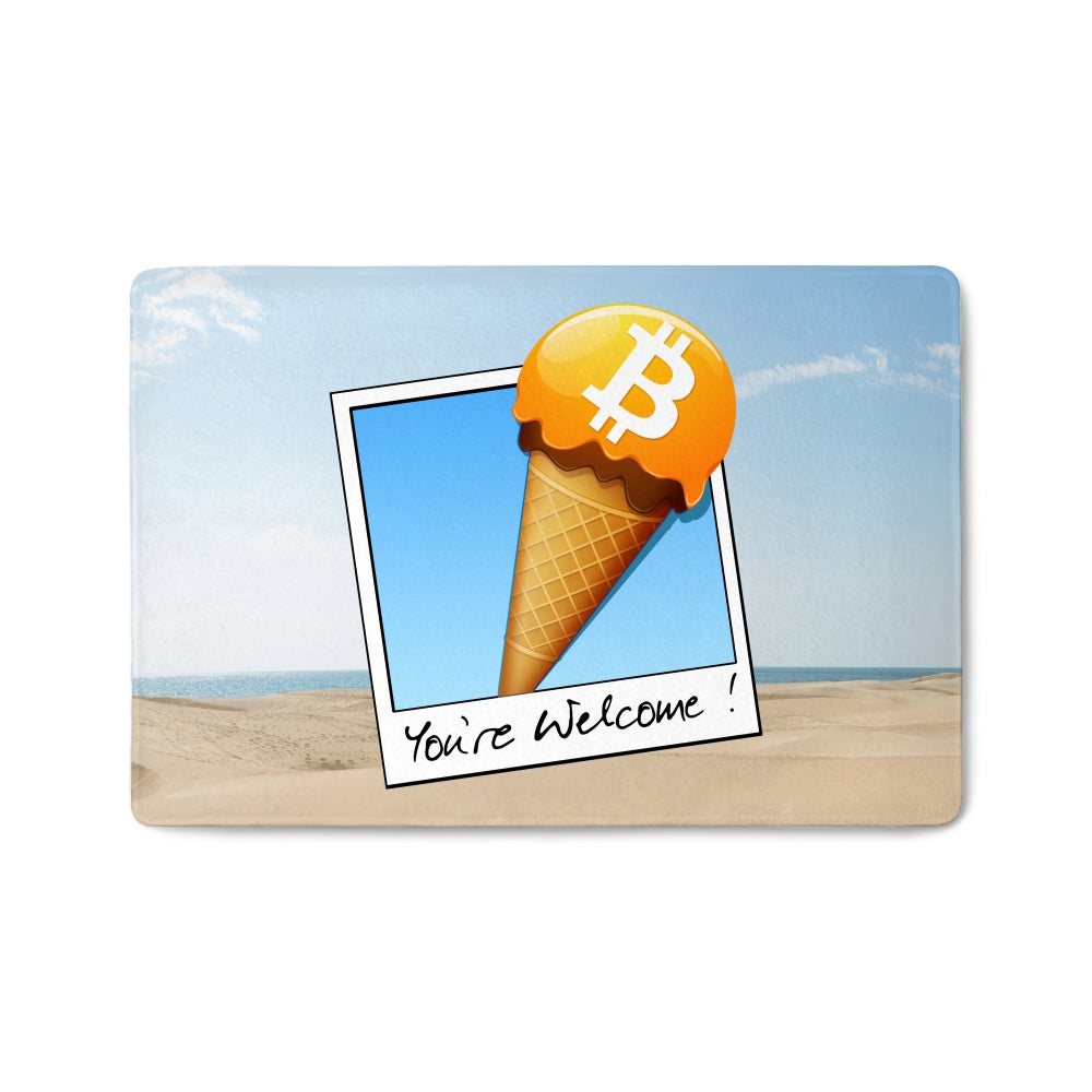 Bitcoin Doormat HQ Print