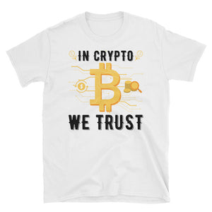 👕 In Crypto we trust - Short-Sleeve Unisex T-Shirt - Best Bitcoin Shirt Shop für Deutschland, Österreich, Schweiz. Top Qualität, 3-5 Tage geliefert und Krypto, Paypal Zahlung
