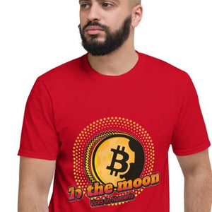 👕 Kurzärmeliges T-shirt to the moon - Best Bitcoin Shirt Shop für Deutschland, Österreich, Schweiz. Top Qualität, 3-5 Tage geliefert und Krypto, Paypal Zahlung