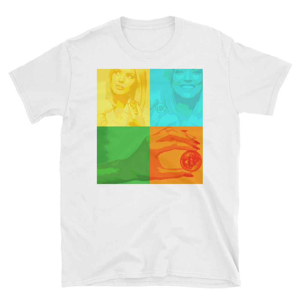 Crypto Girl in 4 Farbmuster Kurzarm-Unisex-T-Shirt