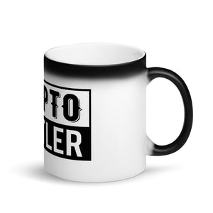 Crypto Hustler - Matte Black Magic Mug