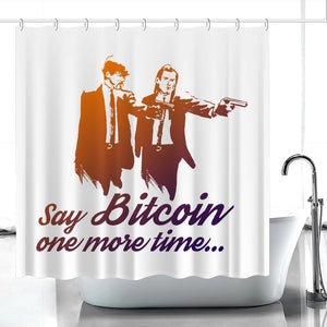 👕 Say Bitcoin one more time Pulp Fiction Duschvorhang Bitcoin - Best Bitcoin Shirt Shop für Deutschland, Österreich, Schweiz. Top Qualität, 3-5 Tage geliefert und Krypto, Paypal Zahlung