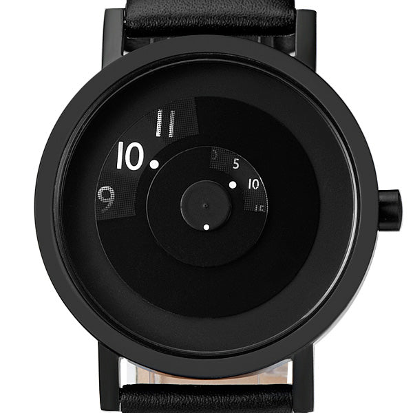 Reveal Watch - Black on Leather