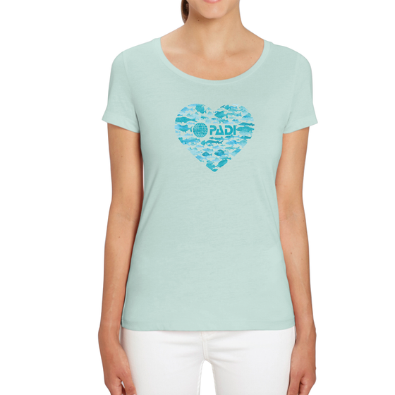 Women's PADI Fish Heart Tee