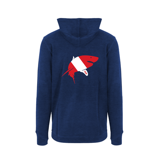 Unisex Dive Flag Great White Shark Hoodie