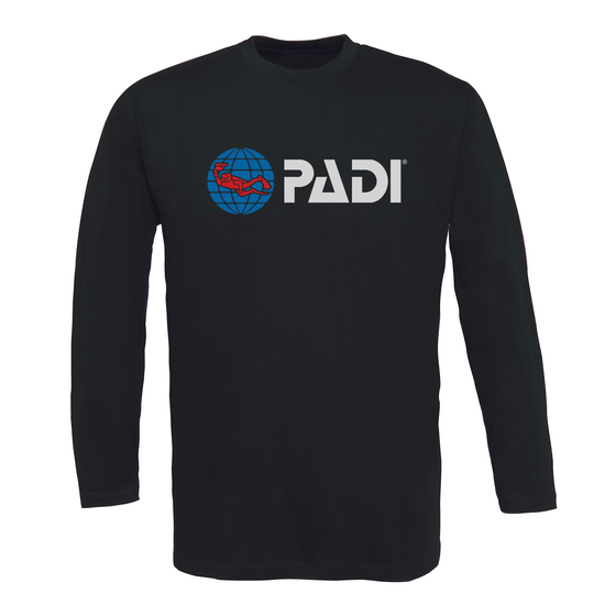 Men's Long Sleeve PADI Tee - Black