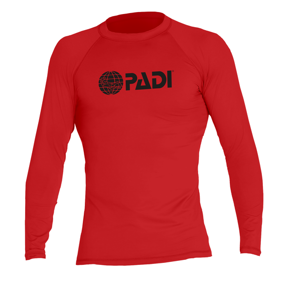 PADI Men's Rashguard – Red