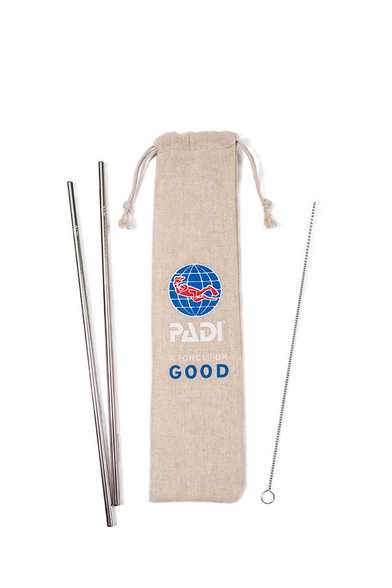 PADI Stainless Steel Straw Sets