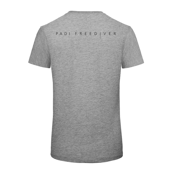 Men's PADI Freediver Tee - Heather Grey