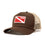Diver Down Trucker Hat with Red/White Flag