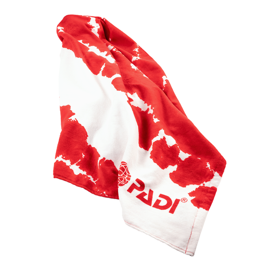 PADI X LEUS Retro Dive Flag Eco-friendly Towel