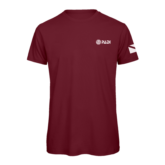 PADI Dive Flag One Colour- Burgundy