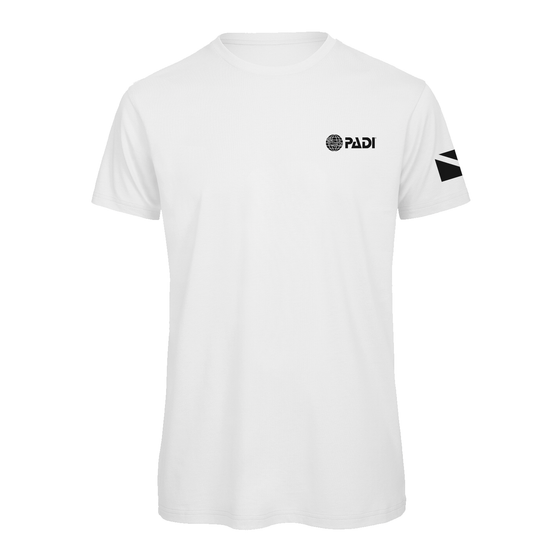 PADI Dive Flag One Colour-White