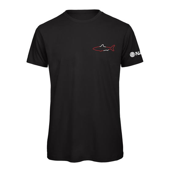 PADI Small Shark Outline Tee -Black