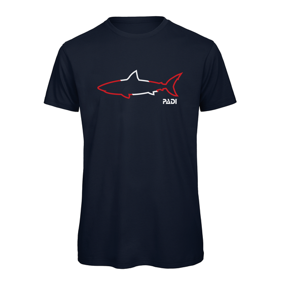 PADI Shark Outline Tee -Navy