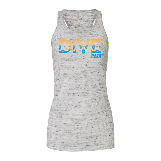 Women's PADI Sunset Tank - Heather Grey