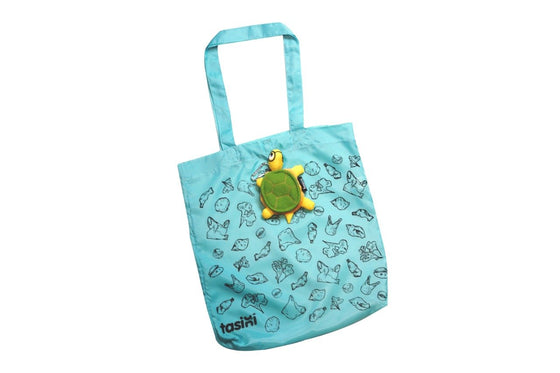 Tasini Turtle Keychain / Reusable Bag