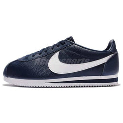 sports shoes 7c253 10859 Nike Classic Cortez Leather Midnight Navy White Men Shoes ...