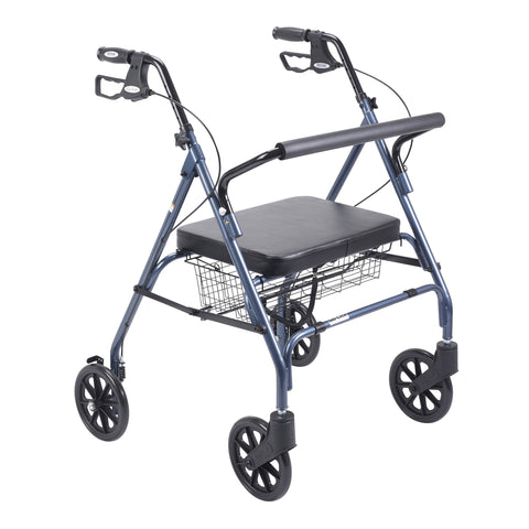 Go-Lite Heavy Duty Bariatric Rollator Walker with Large Padded Seat