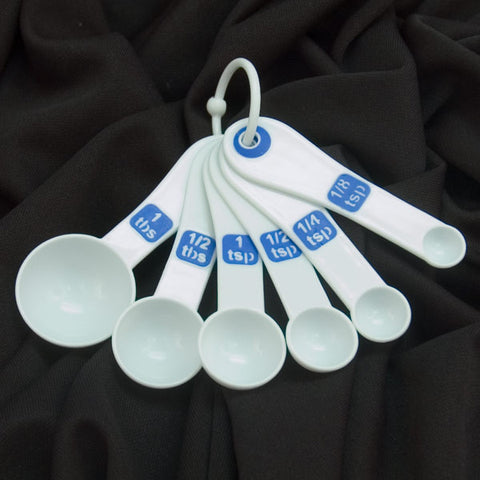 Measuring Spoons with Large Print - Set of 6