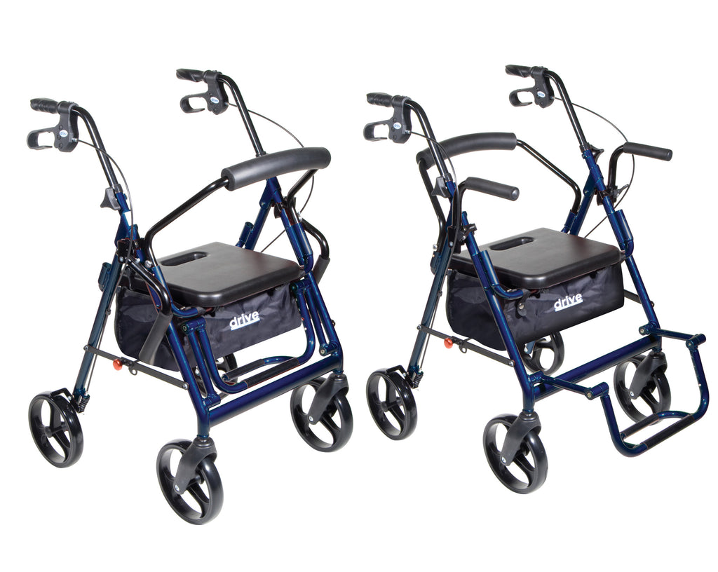 Rollator and Transport Chair modes shown