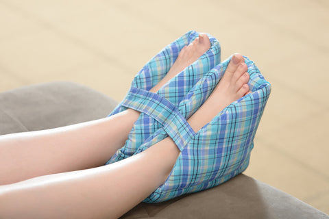 Plush Foot Pillows - Plaid