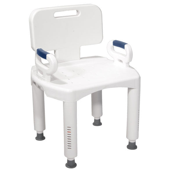 Premium Bath Bench with Back and Arms